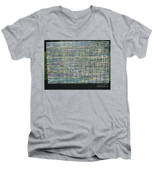 Convoluted Men's V-Neck T-Shirt by Jacqueline Athmann