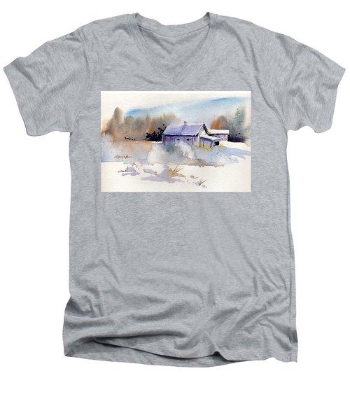 Cool Country Barn Men's V-Neck T-Shirt