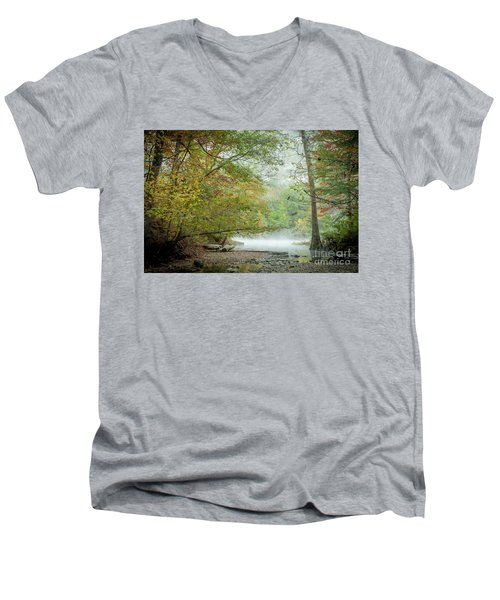 Cool Morning Men's V-Neck T-Shirt by Iris Greenwell