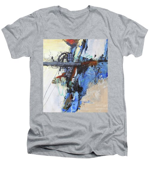 Coolly Collected Men's V-Neck T-Shirt by Ron Stephens