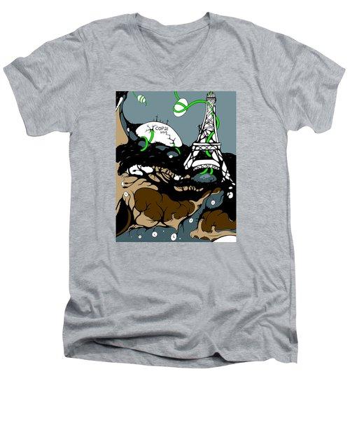 Cop21 Men's V-Neck T-Shirt