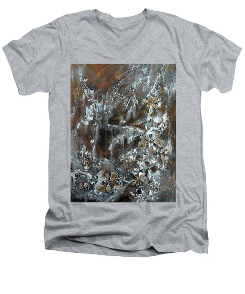Copper And Mica Men's V-Neck T-Shirt by Joanne Smoley
