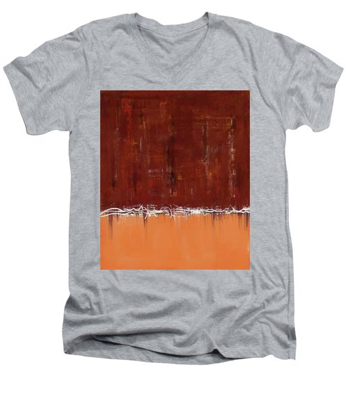 Copper Field Abstract Painting Men's V-Neck T-Shirt
