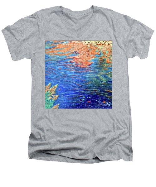 Copper Flow Men's V-Neck T-Shirt