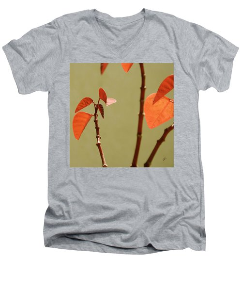 Men's V-Neck T-Shirt featuring the photograph Copper Plant 2 by Ben and Raisa Gertsberg