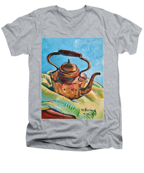Copper Teapot Men's V-Neck T-Shirt