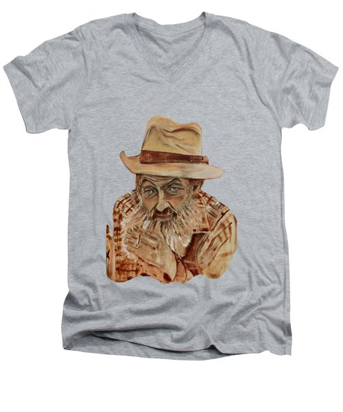 Coppershine Popcorn Bust - T-shirt Transparency Men's V-Neck T-Shirt
