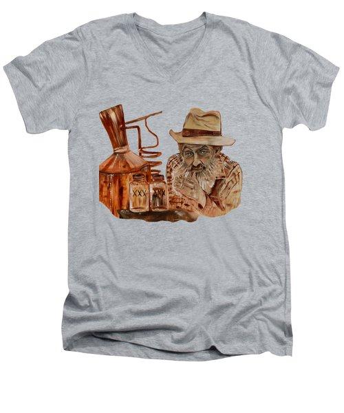 Coppershine Popcorn-transparent For T-shirts Men's V-Neck T-Shirt by Jan Dappen