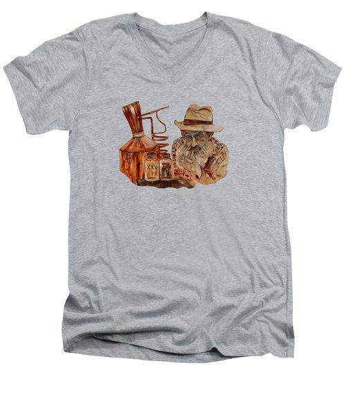 Coppershine Popcorn-transparent For T-shirts Men's V-Neck T-Shirt