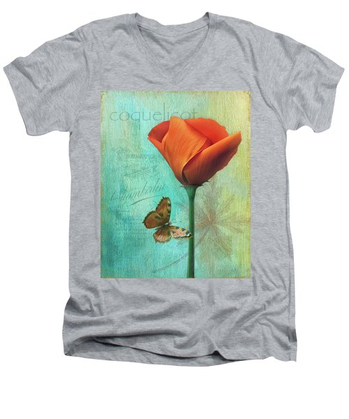 Coquelicot Men's V-Neck T-Shirt