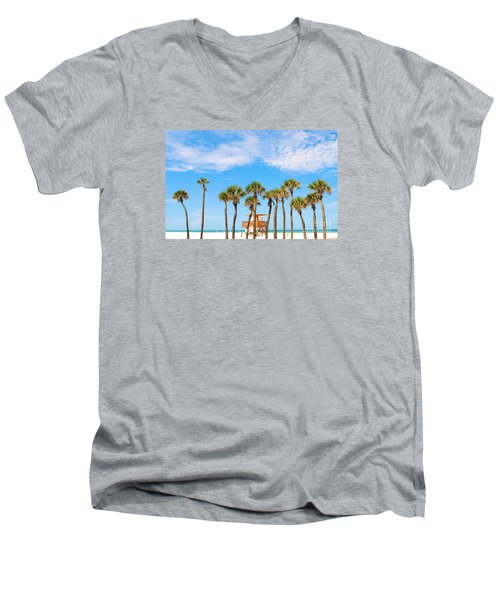 Men's V-Neck T-Shirt featuring the photograph Coquina Beach Anna Maria Island by Margie Amberge