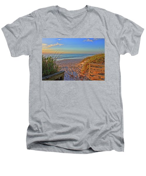 Coquina Beach By H H Photography Of Florida  Men's V-Neck T-Shirt