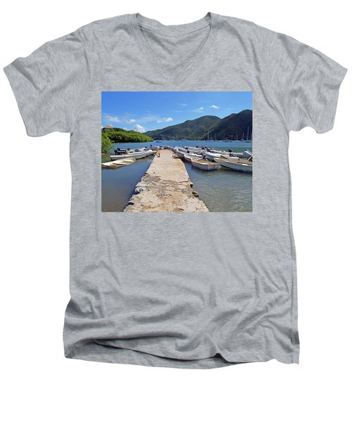 Coral Bay Dinghy Dock Men's V-Neck T-Shirt