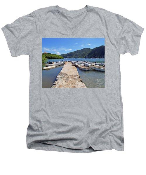 Coral Bay Dinghy Dock Men's V-Neck T-Shirt