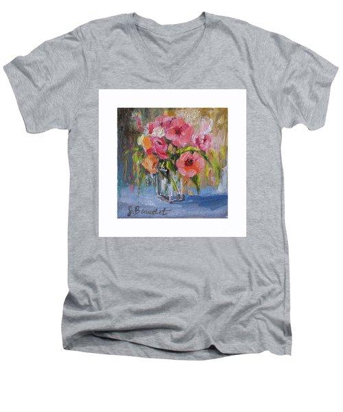 Coral Bouquet Men's V-Neck T-Shirt