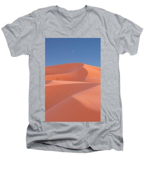 Coral Men's V-Neck T-Shirt