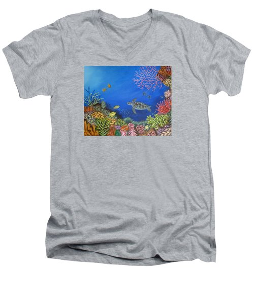 Coral Reef Men's V-Neck T-Shirt