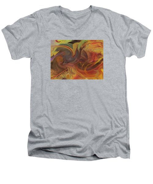 Coral Sea Men's V-Neck T-Shirt by David Klaboe