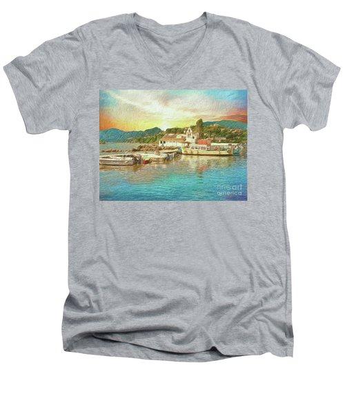 Corfu 30 My Passion Paintography Men's V-Neck T-Shirt