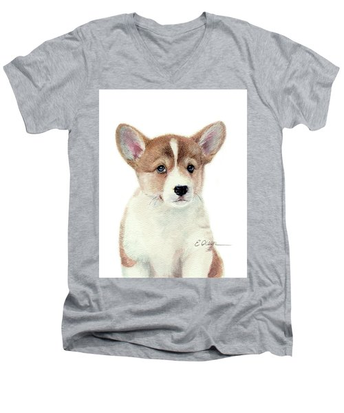 Corgi Pup Men's V-Neck T-Shirt