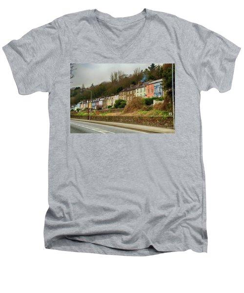 Cork Row Houses Men's V-Neck T-Shirt