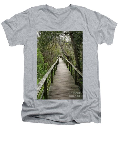 Corkscrew Boardwalk Men's V-Neck T-Shirt