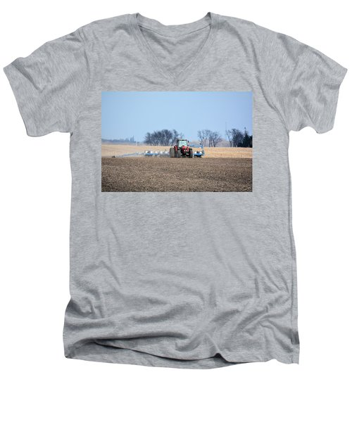 Corn Planting Men's V-Neck T-Shirt