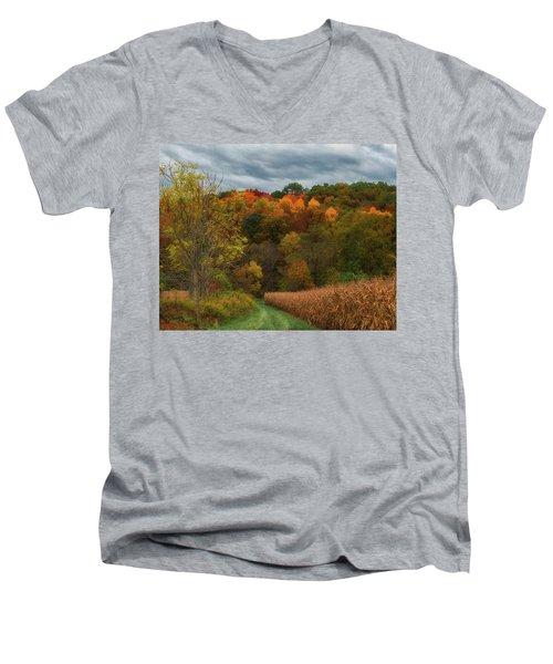 Cornfield In Fall  Men's V-Neck T-Shirt