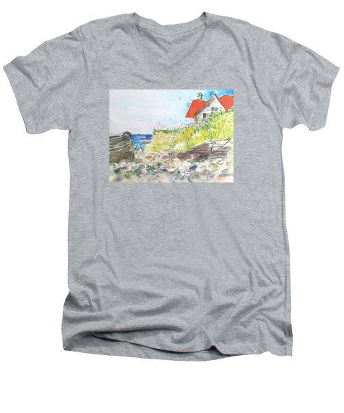 Cornfield Point Old Saybrook Men's V-Neck T-Shirt