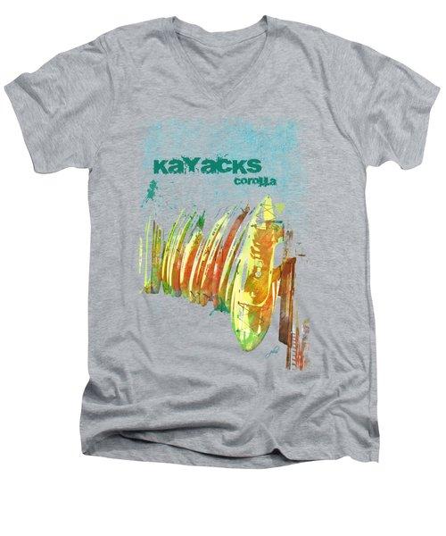 Corolla Kayacks Men's V-Neck T-Shirt by Paulette B Wright