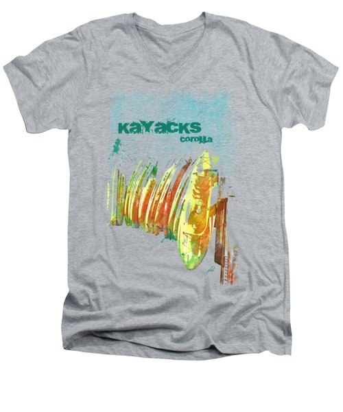 Corolla Kayacks Men's V-Neck T-Shirt