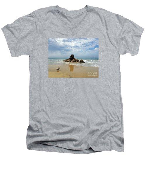 Corona Del Mar 2 Men's V-Neck T-Shirt by Cheryl Del Toro