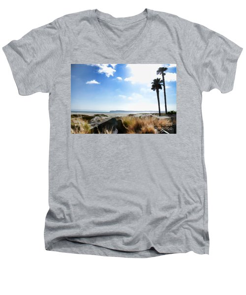 Coronado - Digital Painting Men's V-Neck T-Shirt by Sharon Soberon