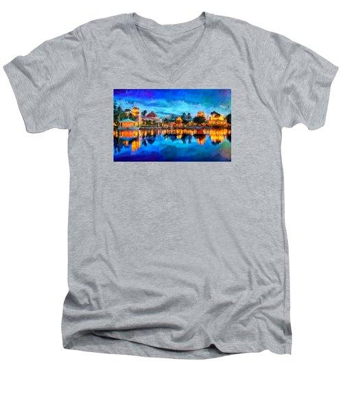 Coronado Springs Resort Men's V-Neck T-Shirt