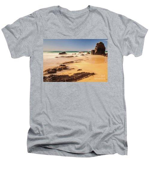 Corunna Point Beach Men's V-Neck T-Shirt