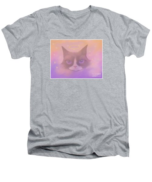 Cosmic Cat Men's V-Neck T-Shirt