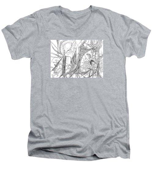 Cosmic Cornfield Men's V-Neck T-Shirt by Charles Cater