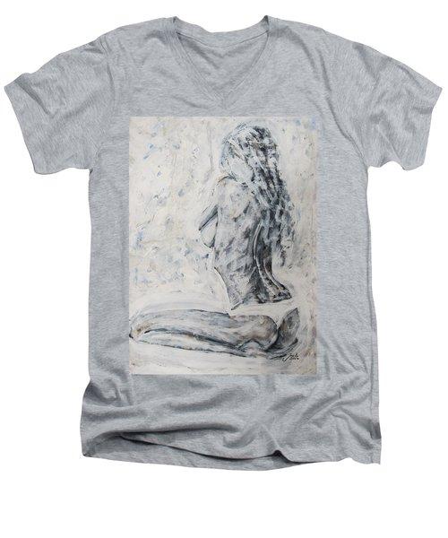 Cosmic Love Men's V-Neck T-Shirt by Jarko Aka Lui Grande