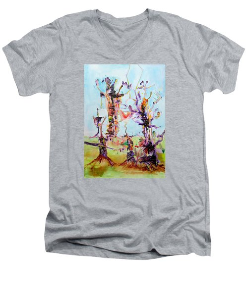Cosmic Tree Family Men's V-Neck T-Shirt