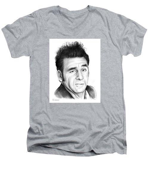 Cosmo Kramer Men's V-Neck T-Shirt by Greg Joens