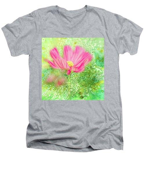 Cosmos On Green Men's V-Neck T-Shirt
