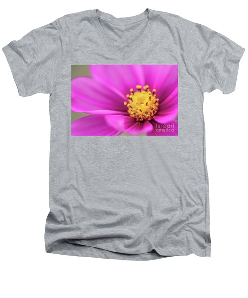 Men's V-Neck T-Shirt featuring the photograph Cosmos Pink Sensation by Sharon Mau