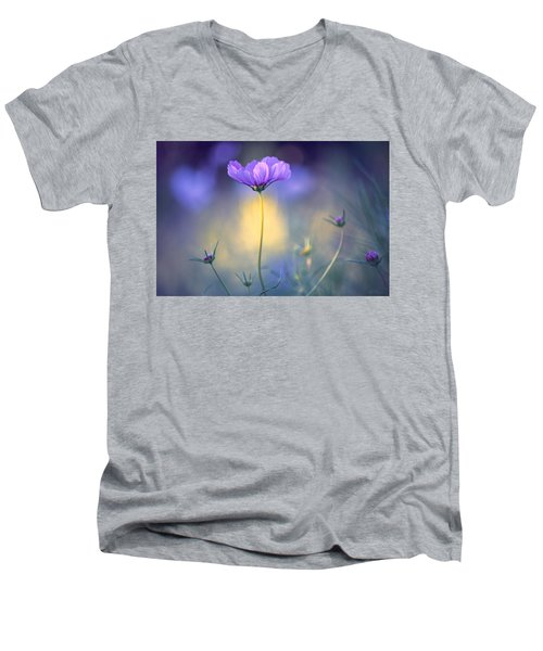 Cosmos Pose Men's V-Neck T-Shirt