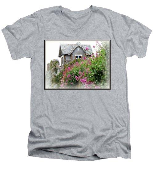 Cottage On The Hill Men's V-Neck T-Shirt by Anne Gordon