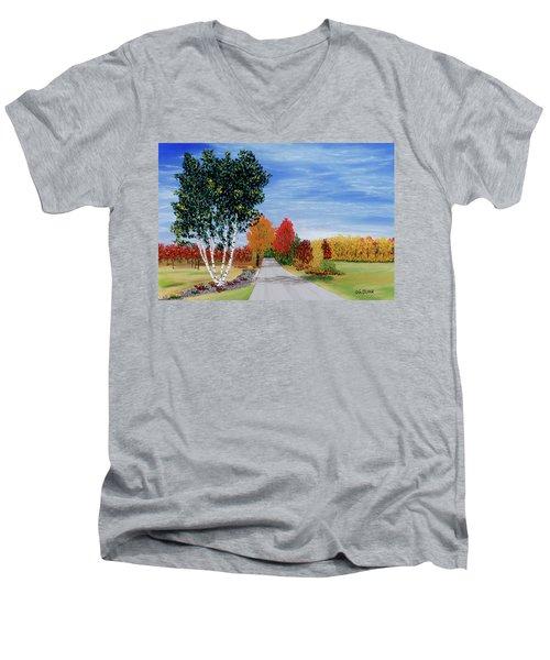 Cottage Row Men's V-Neck T-Shirt