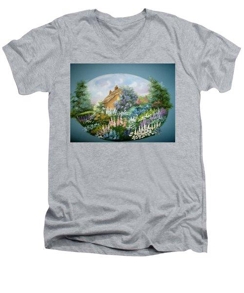 Cottage Vignette Men's V-Neck T-Shirt