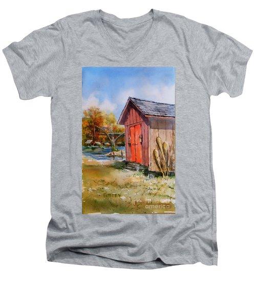 Cotter Shed Men's V-Neck T-Shirt