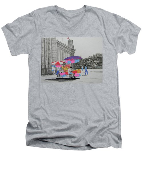 Cotton Candy At The Cne Men's V-Neck T-Shirt