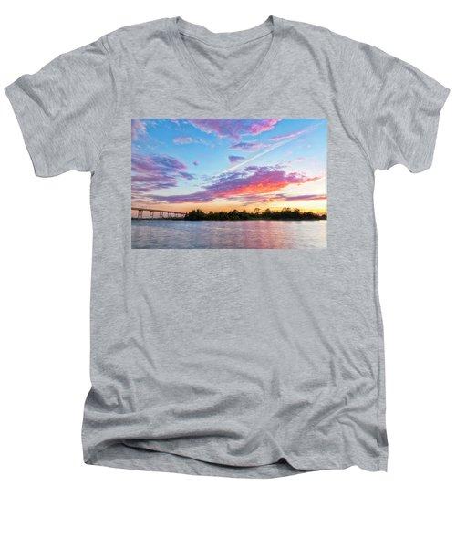 Cotton Candy Sunset Men's V-Neck T-Shirt