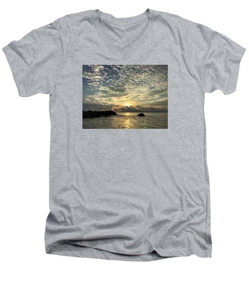 Cotton Clouds Men's V-Neck T-Shirt